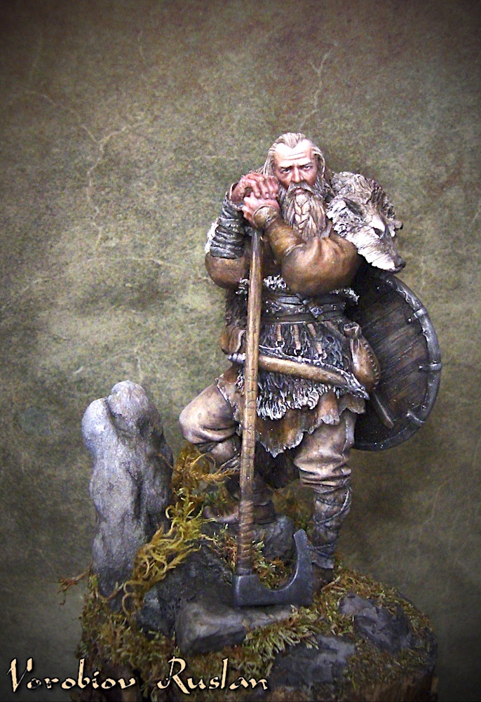 Viking with big ax