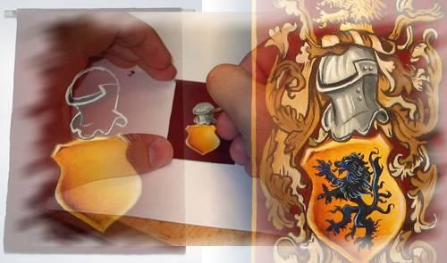 Read more about the article Pittura passo – passo di uno stendardo medievale
