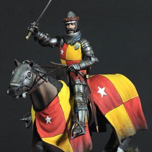 Richard de Vere a cavallo