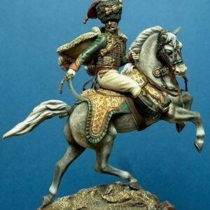 Ufficiale cacciatori guardia imperiale a cavallo