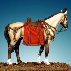 Horse With Roman Saddle