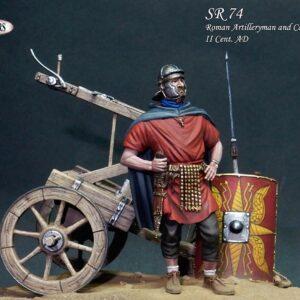 Artigliere Romano con Carroballistica